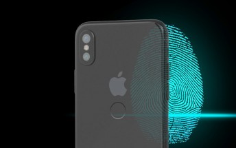Metal blanks show a fingerprint reader on the back of the iPhone 8