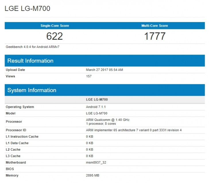 LG Q6 Gets Spotted on Geekbench With the Launch Date Looming Large