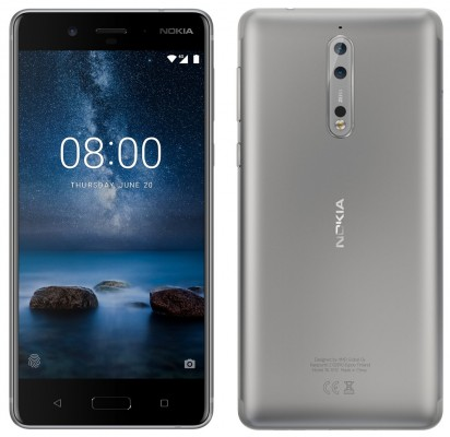 Nokia 8, the Steel color option