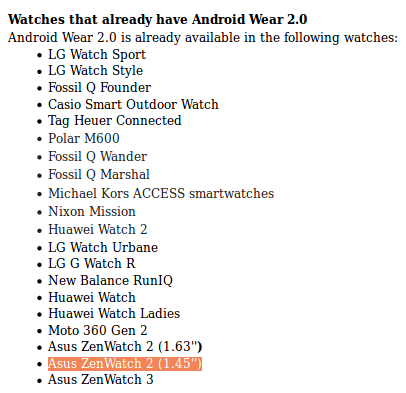 Android Wear 2.0 update starts hitting smaller ZenWatch 2 units as well