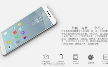 Xiaomi Redmi 5 official images reveal specs