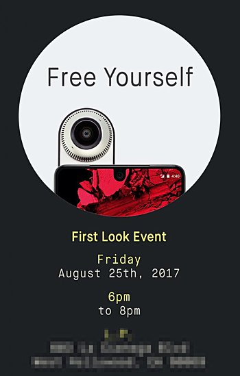 Essential hosting a 'First Look Event' for its PH-1 phone on August 25