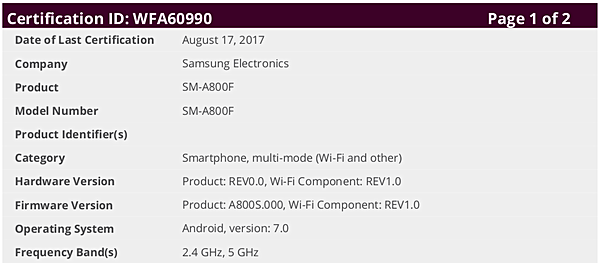 Nougat for Samsung Galaxy A8, A9 Pro, and Tab E is being tested
