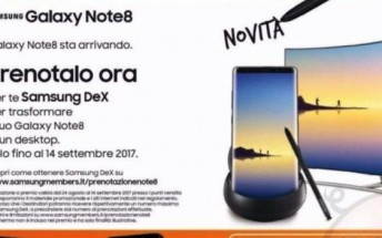 Samsung Galaxy Note8 Italy launch date revealed