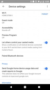 Google Home Bluetooth streaming support