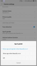 Age & gender Settings