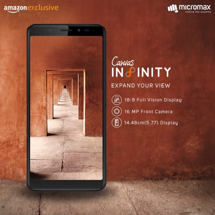 Micromax launches infinity display enabled smartphone 'Canvas Infinity' @ Rs. 9999