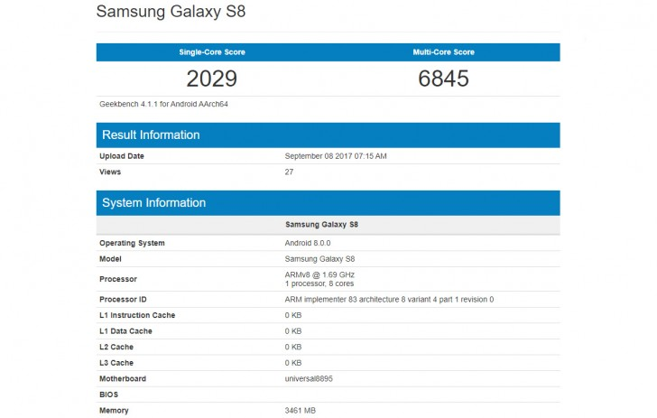 Galaxy S8 spotted running Android 8.0 Oreo