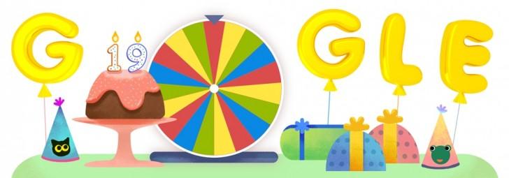 Google celebrates its 19th birthday