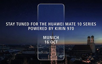 Huawei officially confirms October 16 unveiling for Mate 10 series