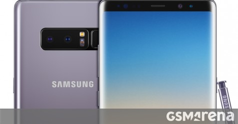 samsung launches orchid gray color for the galaxy note8 in