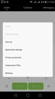 Dialer has a convenient one-handed operation mode - Huawei G8 review