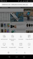 The Stock browser and Google Chrome offer similar functionality - Huawei G8 review