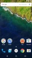 The homescreen is pretty empty - Huawei Nexus 6p review