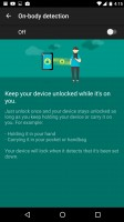 LG Nexus 5x review: Secure lock options: on-body detection