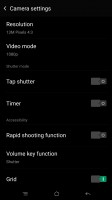 Camera settings - Oppo R7s review