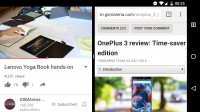 Split-screen on phones in landscape mode - Android 70 Nougat review