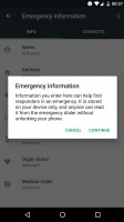 New call blocking menu, Do Not Disturb ending on alarms, Emergency information screens - Android 70 Nougat review