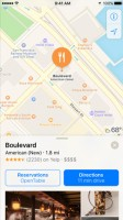 The new Maps with Reservations and Lyft support - Apple iPhone 7 Plus review