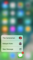 Using 3D Touch across the interface - Apple iPhone 7 review
