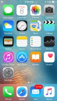 The homescreen - Apple iPhone SE review