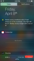 Notification Center - Apple iPhone SE review