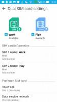 Dual SIM settings - Asus Zenfone Max ZC550KL review