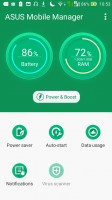 Asus Mobile Manager homescreen - Asus Zenfone Max ZC550KL review
