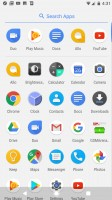 Pulling out the app drawer from the bottom brings us back to the T-Mobile G1 days - Google Pixel XL review