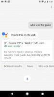 Google Assistant in action: asking about stadiums, the parking there, what's to eat nearby - Google Pixel XL review