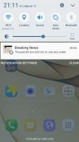 Galaxy S7 edge: Notification shade - Xiaomi Mi Note 2 vs. Samsung Galaxy S7 edge