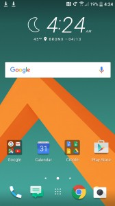 Homescreen and app drawer - HTC 10 hands-on