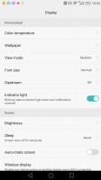 Scale and font size settings - Huawei Mate 8 review