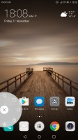 floating dock in action - Huawei Mate 9 review