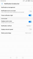 Notification permissions - Huawei Mate 9 review