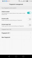 Lockscreen options - Honor 7 Lite (5c) review