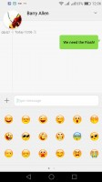 The Messaging app has smilies - Honor 7 Lite (5c) review