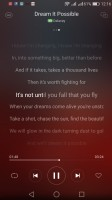 Lyrics in the app - Huawei P9 lite review