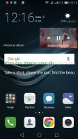 On the homescreen - Huawei P9 lite review