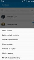 Contacts - Lenovo Vibe K5 Plus review