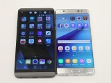 The V20 next to the Note7 - LG V20 Hands-on