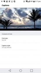 Subtitle settings - LG V20 review