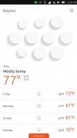 Weather app - Meizu Pro 5 Ubuntu Edition review