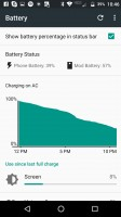 Various locations where Moto Mod battery life is shown - Moto Z Droid Edition Review