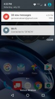Notification shade - Moto Z Droid Edition Review