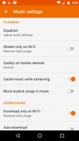 You can cache streamed music - Moto G4 review