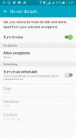 Do Not Disturb mutes all but the most important notifications - Samsung Galaxy A5 (2016) review