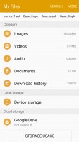 My Files with Google Drive integration - Samsung Galaxy A5 (2016) review
