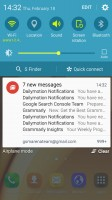 Notification area - Samsung Galaxy A9 (2016) review