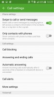 Call settings - Samsung Galaxy A9 (2016) review